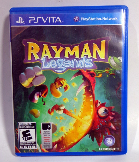 Ps Vita - Rayman Legends, Original, Americano Semi Novo