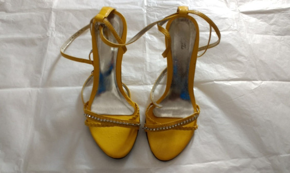 Sapato Feminino 34 Sandália Amarelo