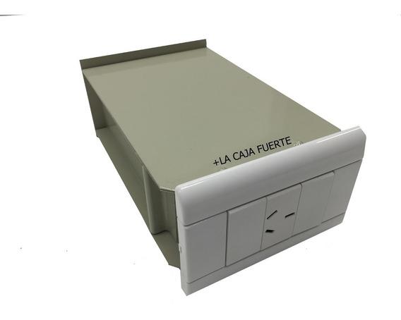 Caja Fuerte Simulada Enchufe Pared De 15cm Fondo Simple