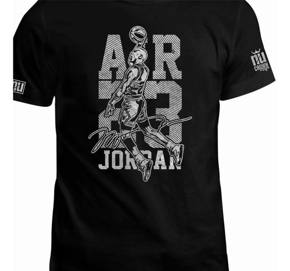 Camiseta Estampada Michael Jordan Basketball Eco