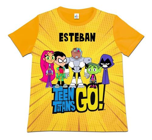 Camiseta Camisa Niño Teen Titans Go Personalizada Poliester