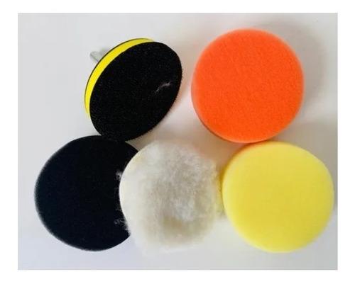 Imagen 1 de 4 de Kit Backing 3 Pulgadas + 3 Pads De Pulido + Cordero + Acople