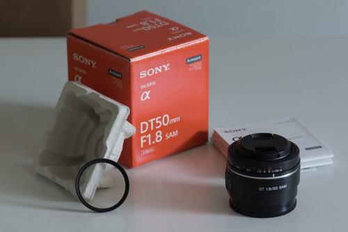 Lente Sony 50mm (sal50f18) - A-mount - Seminova