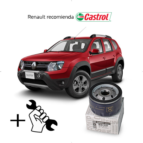 Cambio Filtro + Aceite Castrol 10w40 Renault Duster 1.6 16v
