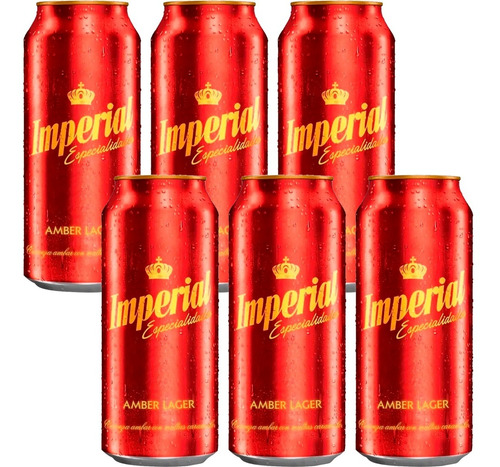 Cerveza Imperial Amber Lager Especialidades Roja  473ml X6.