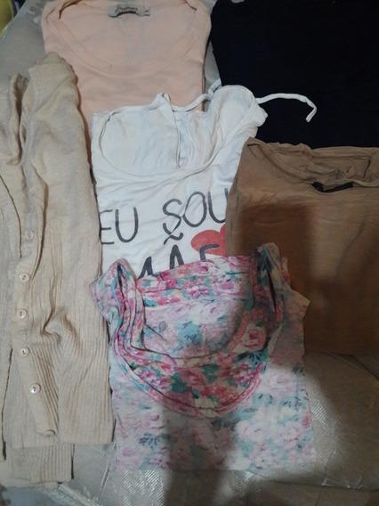 Lote De Ropa Mujer Remeras, Top Y Saquito Usado