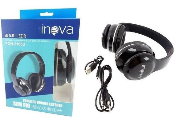Fone De Ouvido Headphone Bluetooth Inova Fon-2165d Preto