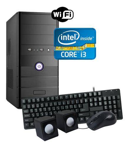 Imagen 1 de 2 de Torre Pc Computadora Nueva Intel Core I3 8gb 1tb Wifi Win10