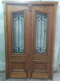 Puerta Y 2 Ventanas Estilo Antigua De Pinotea