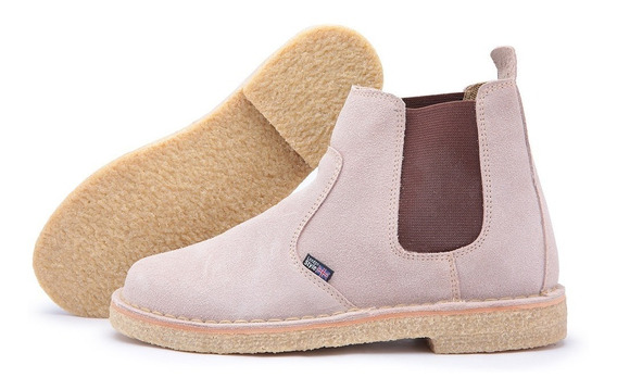 Botina Estilo Clarks Assandalhado Solado Crepe Desert Boots