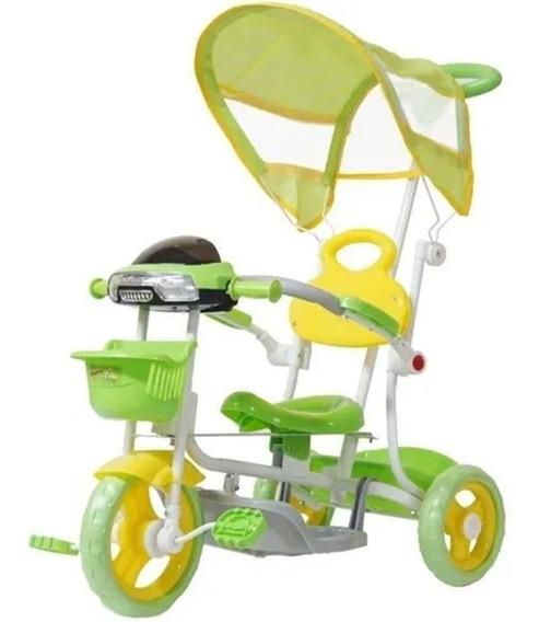 Triciclo Infantil De Pedalar Verde C/ Luzes- Importway