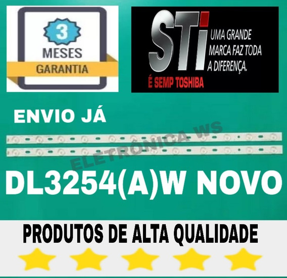 Kit Par Barras De Led Tv Semp Toshiba Dl3254(a)w Envio Ja