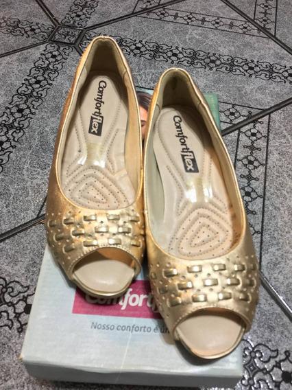 Sapato Peep Toe Comfortflex 35