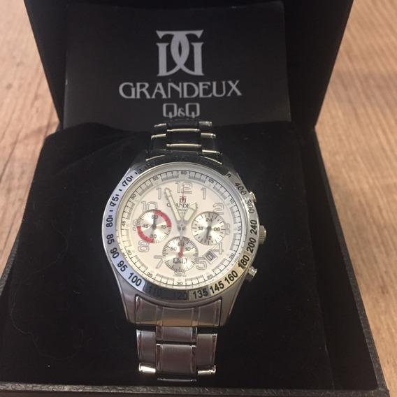 Relógio Com Cronógrafo Q&q Grandeux Japan
