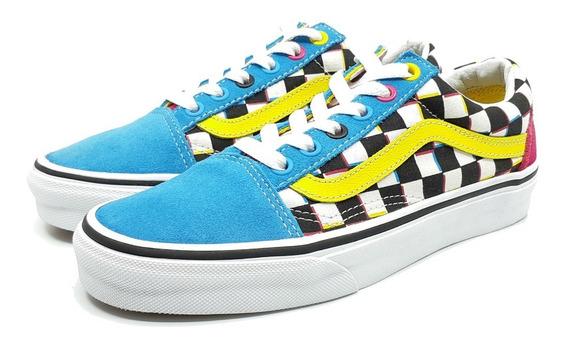 Vans Old Skool Checkerboard Skate Shoe Nuevos Originales