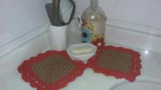Conjunto De Banheiro Em Croche