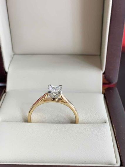 Anillo De Compromiso Diamante Certificado Gia .45ct H Si2