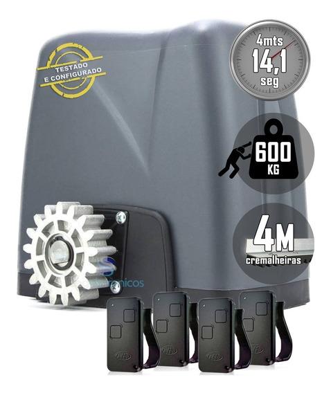 Kit Motor Deslizante Nano Turbo Rossi 4m Crem 4 Controles