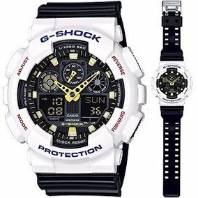 Relógio G-shock Ga-100cs-7adr Branco Original