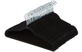 Basics Velvet Suit Hangers - 100-pack, Black