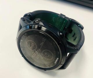 Reloj Gps Garmin Fénix 5 Plus Zafiro, Correa De Piel.
