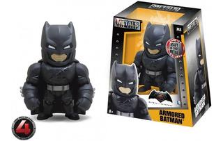 Figura De Acción Batman Armored Dc 10 Cm Metal Die Cast Full