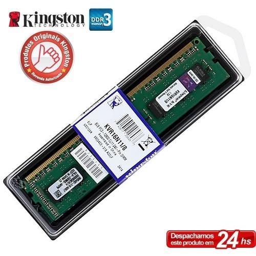 Memória 8gb Ddr3 1600mhz Kingston Kvr16n11/8 Desktop