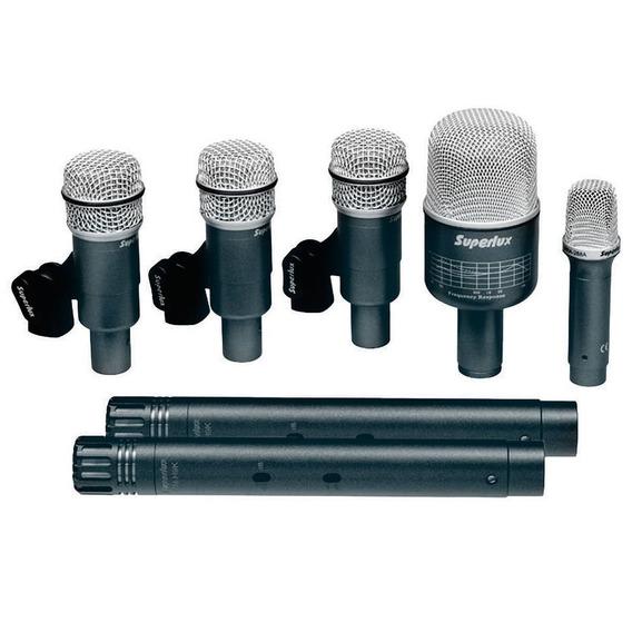 Microfone Superlux P/ Instrumentos (7 Unidades) - Drkb5c2