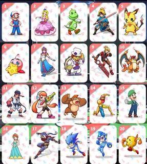 Tarjetas Amiibo Smash Bros. Coleccion 1 + Tarjetero De Piel