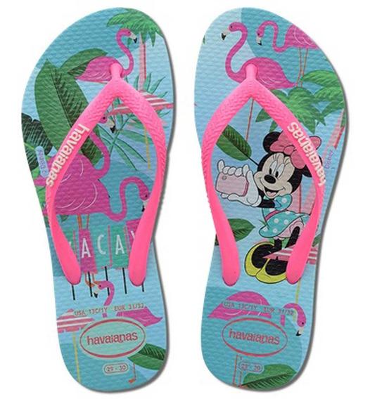 Chinelo Havaianas Infantil Disney Cool Slim Minnie Original