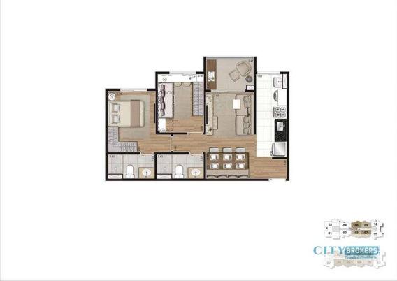 Apartamento Com 2 Dormitórios À Venda, 55 M² Por R$ 377.900,00 - Mooca - São Paulo/sp - Ap0439