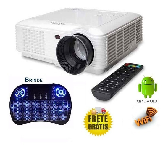 Projetor Profissional Led Android Wifi 2600 Lumens + Brinde