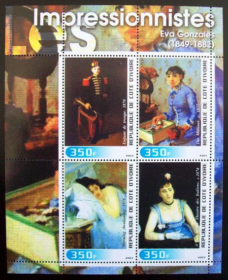 Costa Marfil, Arte Bloq Impresionis Gonzales 2003 Mint L5663