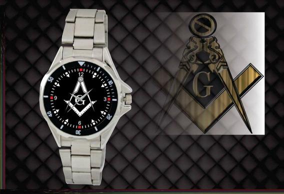 Relógio De Pulso Personalizado Maçonaria Maçon - Cod.mçrp033