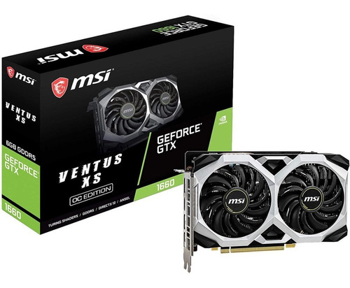 Tarjeta De Video Msi Gaming Geforce Gtx 1660 Ventus Xs 6g Oc