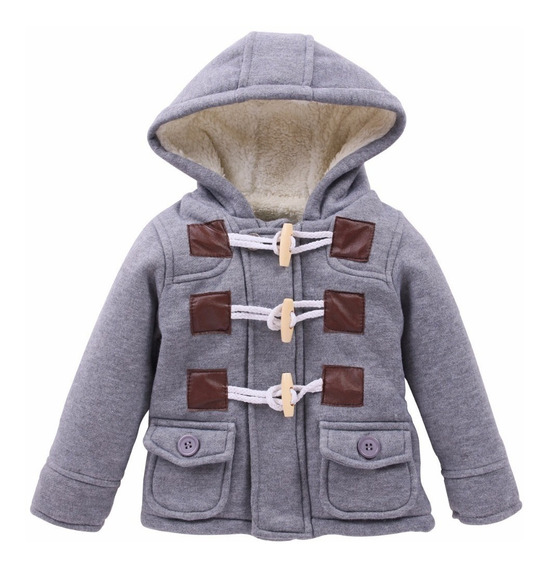 Casaco Infantil Menino Com Capuz Inverno Forrado Super Quent