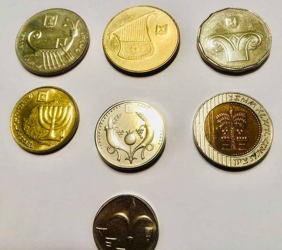 7 Monedas Israel Excelente Condicion