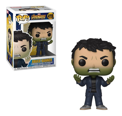 Funko Pop! Avengers Bruce Banner With Hulk Head #419