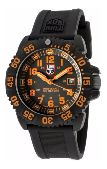 Relogio Luminox Navy Seal Laranja 200m 3059 Swiss Made