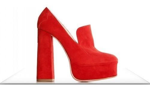 Zapato Rojo Sarkany Olivia Artesanal Nuevos. Navidad. Fiesta