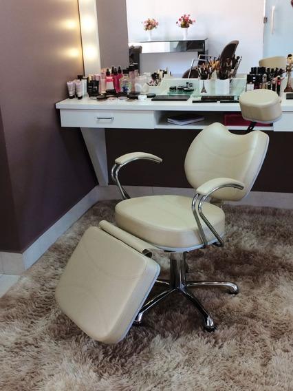 Cadeira Poltrona Reclinável Maquiagem Sobrancelha+lombar
