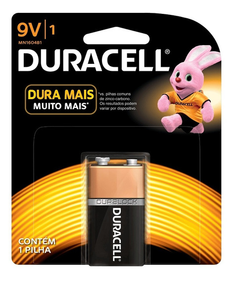 Bateria Duracell Pilha Alcalina 9 Volts Para Carrinho