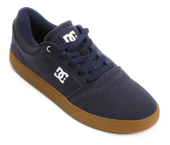Tenis Dc Shoes Azul Solado Marrom Crisis Tx La Masculino