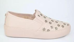 Tênis Feminino Bottero Slip On Flatform Couro Rosa/pastel 29