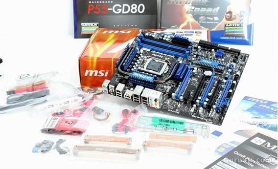 Kit Placa Mãe Msi P55-gd80 Gamer + Proc I5 Quad Core + 8gb
