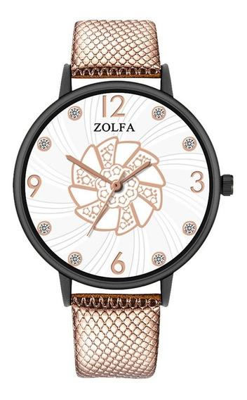 Zl119-hp Senhoras Relógio De Quartzo Pulseira De Couro Cláss