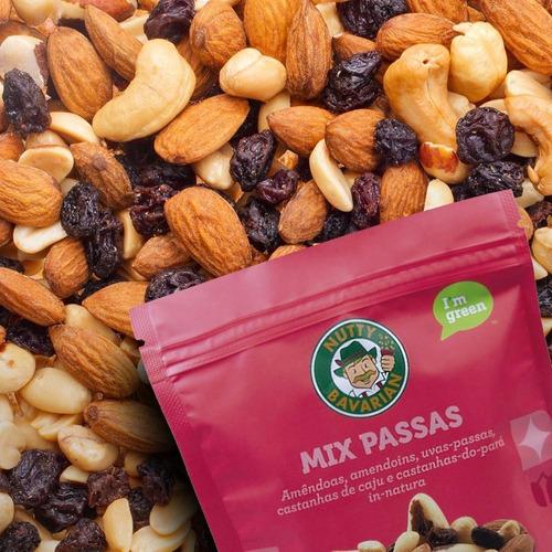 Mix In Natura-amêndoas-amendoins-castanhas-uvas-passas-150g