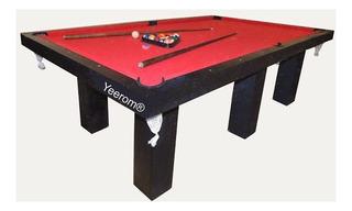 Mesa De Pool Profesiona 8 Pies 254 6 Patas Yeerom®