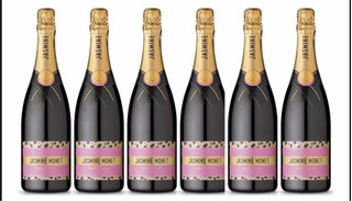 Champagne Jasmine Monet Pink Rose X Caja 6unid.