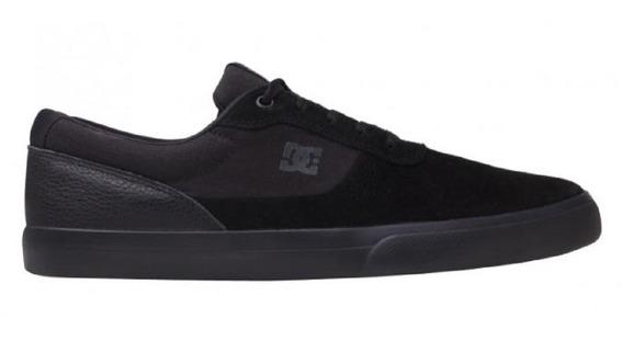 Tênis Dc Shoes Switch Preto Vulcanizado Original Importado